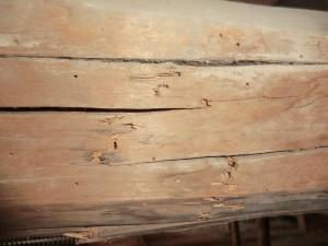 reparar vigas madera