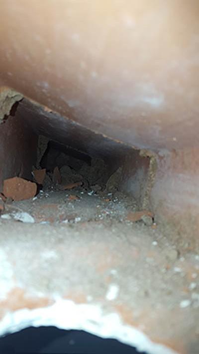 Perspectiva del interior de la bovedilla ocupada por la colonia.